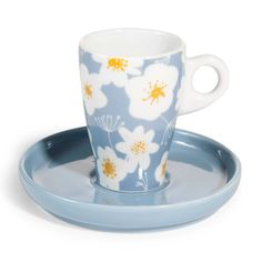 Tazza da caffè e piattino in porcellana blu COVENTRY