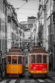 Lisbon - Downton tram, Portugal