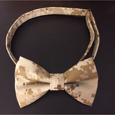 Mens Adjustable Military Camo Bowtie (Army, Marines, US Navy, Air Force, Coast Guard) by PatrioticBows on Etsy https://www.etsy.com/listing/226515092/mens-adjustable-military-camo-bowtie