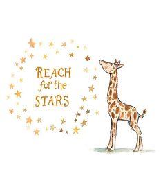 Love this Giraffe 'Reach for the Stars' Print by trafalgar's square on #zulily! #zulilyfinds