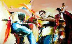concert - Peinture,  120x80 cm ©2004 par Christian Vey -