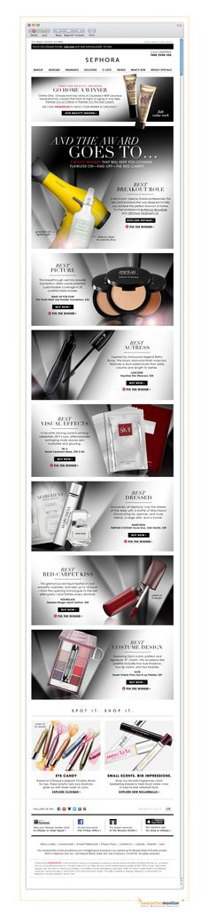 Brand: Sephora I Subject: And the winner is... I Check out other great emails on http://www.newslettermonitor.com/