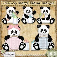 Baby Pandas 1 - Exclusive Clip Art