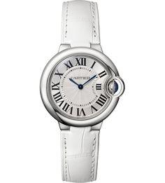 CARTIER - Ballon Bleu de Cartier stainless steel and leather watch | Selfridges.com