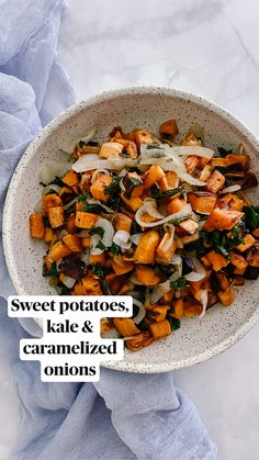 Whole Food Recipes, Vegetarian Recipes, Dinner Recipes, Cooking Recipes, Healthy Recipes, Sweet Potato Dinner, Sweet Potato Meals, Meal Prep Sweet Potatoes, Sweet Potato Side Dish