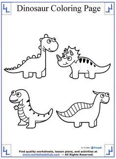 Dinosaur Coloring Page Cute
