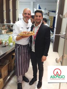 "At Anuga with Franco Pepe and hid ""Profume del Matese"" pizza."