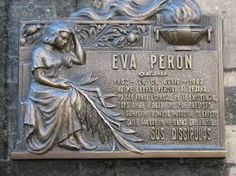 Eva Peron's memorial plaque in Recoleta Cemetery, Buenos Aires - from Guy Portman's blog
