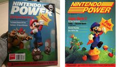 First & final cover of Nintendo Power, side by side