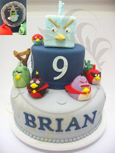 Angry Birds Space Cake  - by Caketutes Cake Designer - oh my - i want this cake for Ethan's birthday SOOO bad!!
