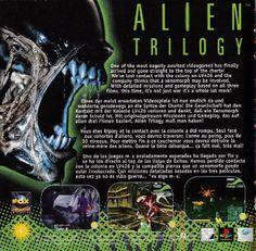 Promo for Alien Trilogy for Playstation, Sega Saturn and PC Sega Saturn, Playstation, Gaming, Comic Books, Retro, Videogames, Game, Cartoons, Comics