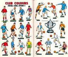 English League Club Colours in 1969.