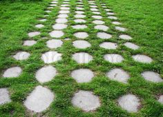 Garden and lawn path ideas. How to create a simple and inexpensive driveway through a lawn without completely removing the lawn. Garden Yard Ideas, Terrace Garden, Garden Paths, Path Ideas, Hardy Perennials, Garden Stones, Site Design, Stepping Stones, Landscape Design
