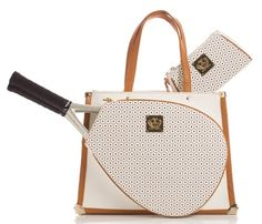 Court Couture Vintage Karisa Monogram tennis bag is inspired by the style of the It's printed with wooden tennis racquets and pink tennis balls Tennis Bags, Vintage Tennis, White Pebbles, Vintage Designs, Louis Vuitton Damier, Product Launch, Monogram, Couture, Shoe Bag