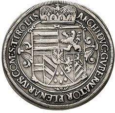 Erzherzog Leopold V. 1619-1632. Reichstaler 1621 Hall. Voglhuber 175 II var., Davenport 3330. very fine, handle trace