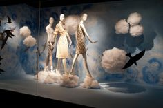 In The Air #HoltsWindows Window Display Design, Shop Window Displays, Retail Windows, Store Windows, Clothing Displays, Through The Looking Glass, Visual Merchandising, Store Design, Balloons