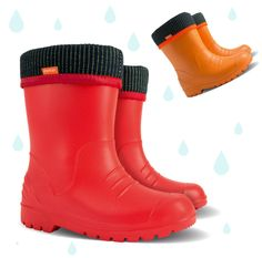 #Comfortable #Demar #wellington #boots for #kids Available in #red, #orange, #black, #silver, #pink and #blue #color !