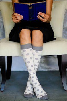 873852831b Vim & Vigr 15-20 mmHg Women's Stylish Compression Socks - Cotton in  Cream