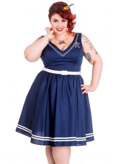 I need this dress :) Hell Bunny Ariel Plus Dress, £41.99
