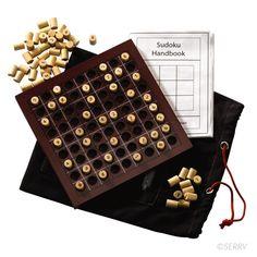 Wooden Sudoku set with setup booklet and drawstring bag Under $20 serrv.org