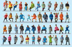 Painted Preiser seated figures.