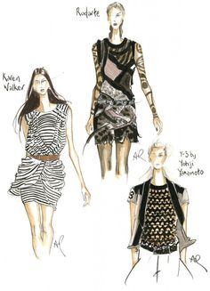 ❤ Sketches From New York Fashion Week 2013, Very Cool !!