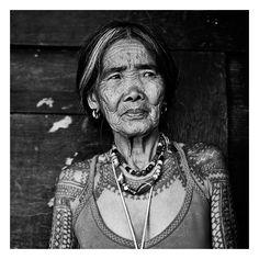 Old tattooed women from Kalinga province