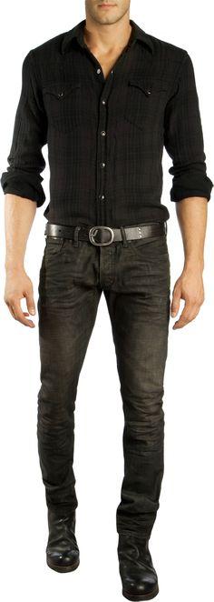 Ralph Lauren Black Label Denim Slim Straight Jean at Barneys.com