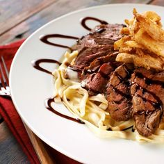 Blackened Fillet with Fettuccini