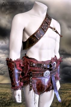 Gladiator costume based on Crixus from the Spartacus TV show.