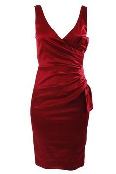 Quba - Red Satin Cup Dress - Evening Dresses - designer dress, designer dresses, online fashion, fashion dress, australian fashion, racewear, online clothes, fashion - StyleSays