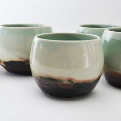 Studio Joo - porcelain tea bowls - Elaine Tian shop.brooklynmakers.com