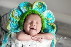 Babies as flowers = very cute