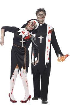 Zombie Nun & Priest Couples Costumes | Jokers Masquerade