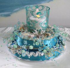 Mermaid Coral Reef Seashell Wedding Cake by CeShoreTreasures, $60.00