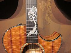 a beautiful inlay on a taylor guitar..