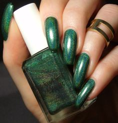 Green, Glaze & Glasses: Blue-Eyed Girl Lacquer