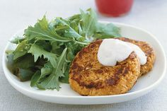 Sweet potato and chick pea patties