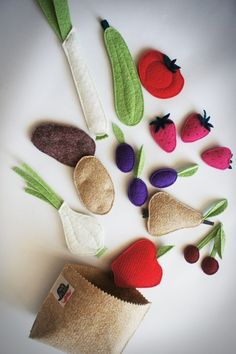 zabawki - inne-Nowalijki:) fruit and vegetable felt