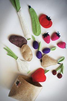 zabawki - inne-Nowalijki:) fruit and vegetable felt