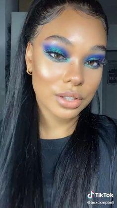 Black Girl Makeup, Girls Makeup, Hair Makeup, Beauty Makeup, Makeup Eyes, Exotic Makeup, Women's Beauty, Luxury Beauty, Beauty Skin