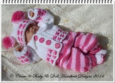"Cosy Autumn Suit 8-13"" dolls-knitting pattern, doll, reborn, suit, hat, boots, jacket, trousers, babydoll handknit designs"
