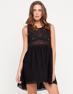 Motel Babydoll Dress with Cross Beads Use the code GABZ at the checkout to get 20% off!