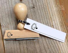 Stempel   kleiner Igel mit Herz   Holzstempel von Der kleine Sperling - Stempel auf DaWanda.com
