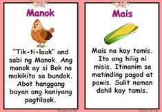 Make your own reading booklet with these Filipino Reading Passages / Tagalog Reading Passages for your remedial instruction or reading dri. Easy Drawings For Kids, Reading Practice, Visual Aids, Tagalog, Reading Passages, Picture Cards, Kindergarten Teachers, Preschool Learning, Reading Material