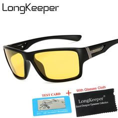 33a16cefc9 Long Keeper Yellow Polarized Sunglasses Men Women Night Vision Goggles  Driving Glasses Driver Polaroid Sun Glasses UV400  nightgoggles