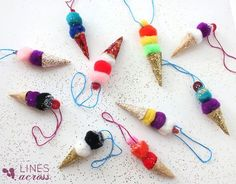 * * * Girl Guide SWAPS (or Hat Crafts) * * * Ice Cream cones