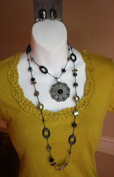 "Premier Designs Jewelry:  ""Emerald Isle"" necklace   ""Romance"" enhancer"