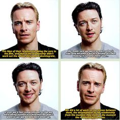Michael #Fassbender & James #McAvoy discuss Charles and Erik's relationship in X-Men First Class. #xmen #cherik