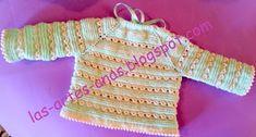 ARTES-ANAS: PUNTO CARACOL,CHAQUETA BEBÉ Baby Knitting, Crochet, Sweaters, Pattern, Lana, Tops, Ideas, Fashion, Knit Jacket